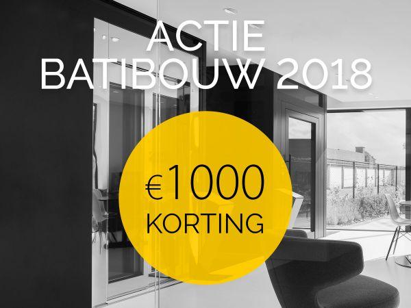 Actie Batibouw 2018: 1000 euro korting op DomusLift huisliften
