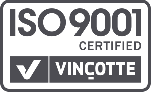 ISO 9001 Certified Vincotte